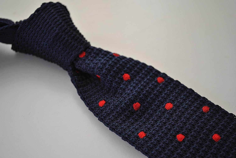 Frederick Thomas punto azul marino y Rojo De Lunares Corbata ...