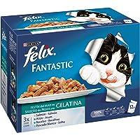 Purina Felix Fantastic Festín Gelatina comida para gatos Selección Surtido de Pescados 6 x [12 x 100 g]