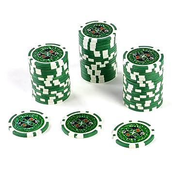 50 Poker Chips Laser Chips Wert 25 12g Metallkern Poker Texas Holdem Black Jack Roulette Blau Reflektierend