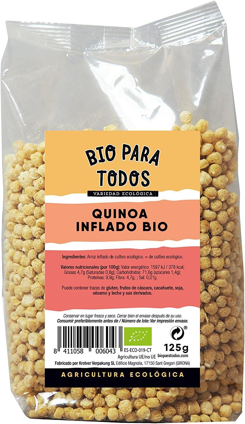 Bio para todos Quinoa Hinchada Bio - 4 Paquetes de 125 gr - Total: 500 gr