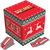 Ugly Sweater Contest Ballot Box and Voting Cards Set For Christmas New Year Party