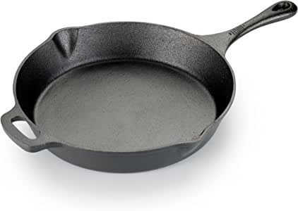 T-fal E83407 Pre-Seasoned Nonstick Durable Cast Iron Skillet / Fry pan Cookware, 12-Inch, Black -