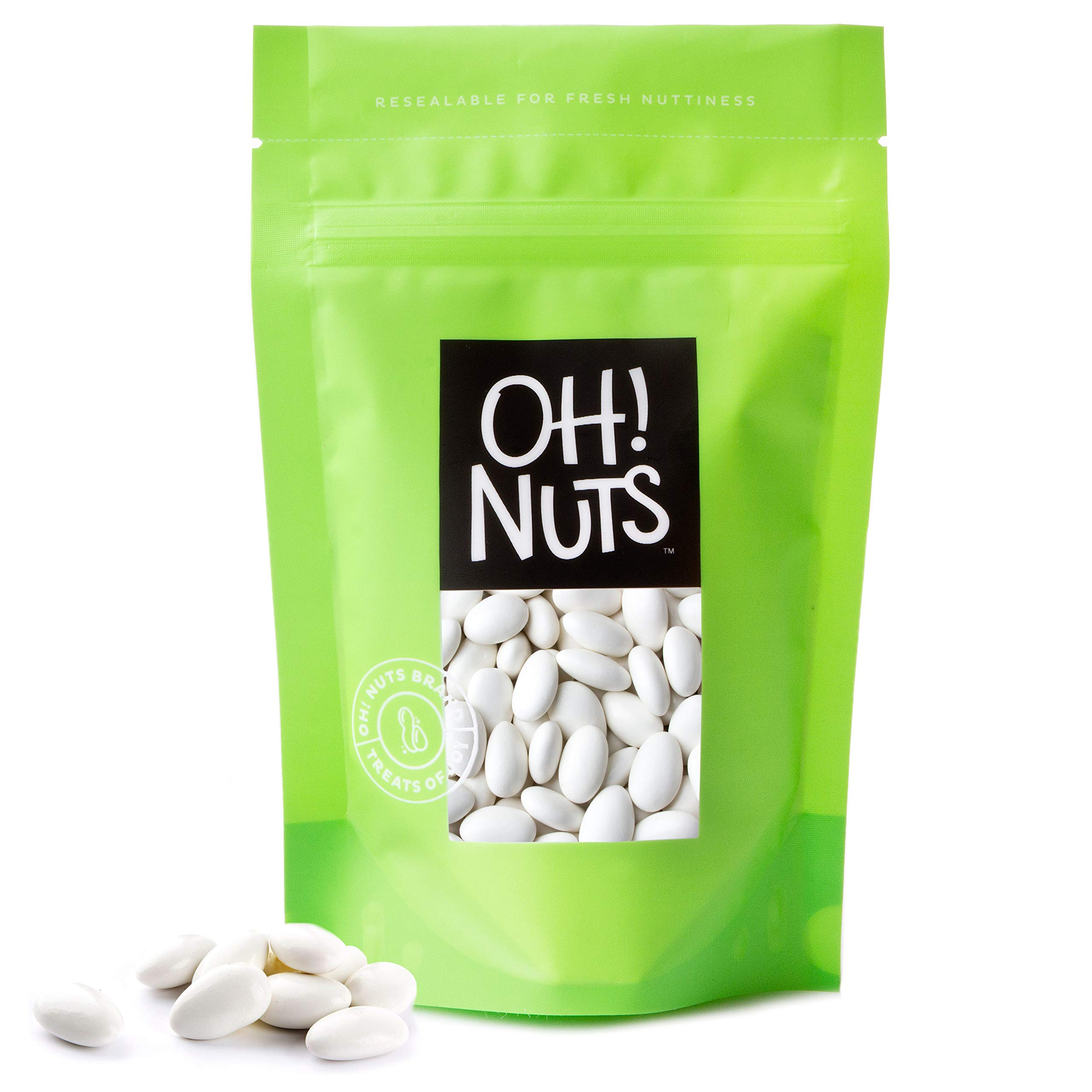 white jordan almonds super fine 2 pound bag oh nuts