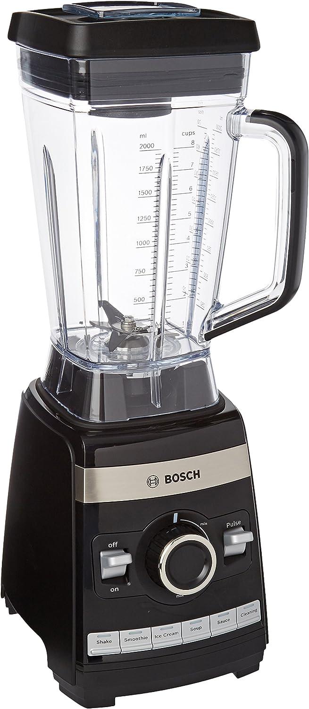 Bosch MMBH6P6B VitaBoost Batidora de vaso, 1600 W, 2 litros, color negro
