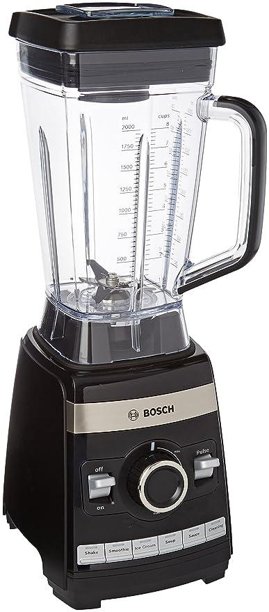 Bosch MMBH6P6B VitaBoost - Batidora de vaso de alta velocidad, 1600 W, 2 l, 30.000 rpm, color negro