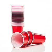 Lumaland Beer pong gobelets de fête rouge verre de plastique extra résistant