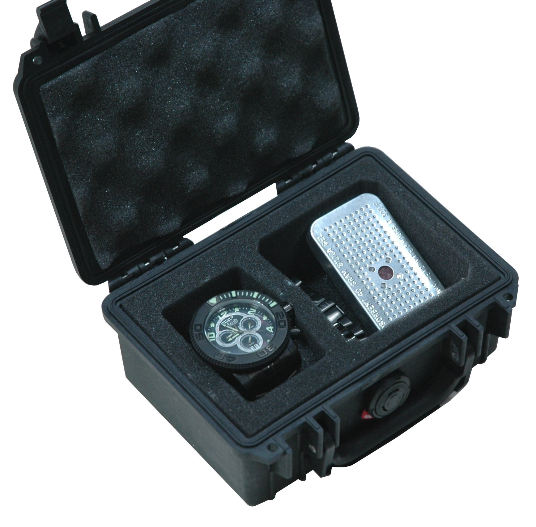 Case Club Waterproof Watch Travel Case with Accessory Pocket