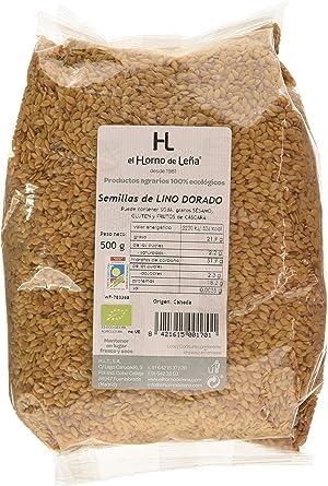 Horno de Leña Semilla De Lino Dorada Eco, 500 g, Pack de 1: Amazon.es: Alimentación y bebidas