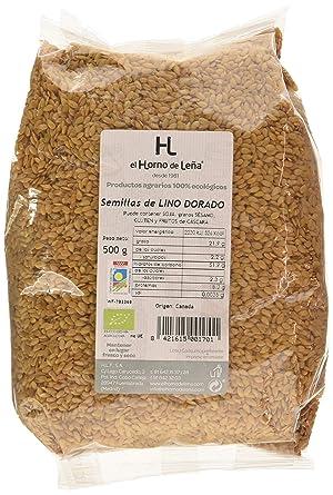 Horno de Leña Semilla De Lino Dorada Eco, 500 g, Pack de 1