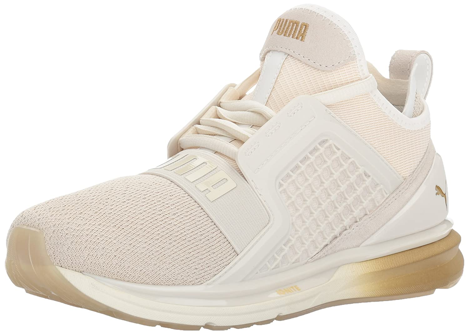 huge selection of b4532 b9e97 PUMA Women's Ignite Limitless Metal Wn, Whisper White-Gold ...