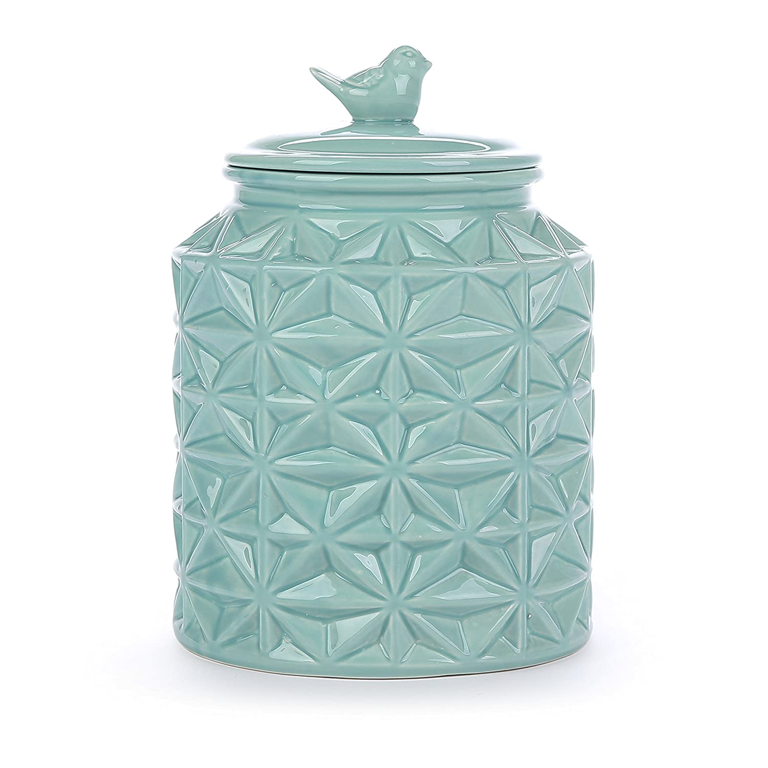 Amazon.com: Turquoise Vintage Ceramic Kitchen Flour Canister/Cookie ...