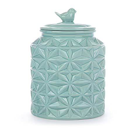Cookie Jar Bg Stunning Amazon Turquoise Vintage Ceramic Kitchen Flour CanisterCookie