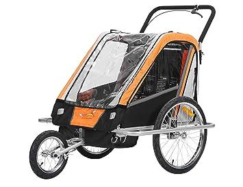 fixi Master Multifunktion 2 en 1 Remolque de bicicleta/Jogger Baby Carrito transportador (mano carro Naranja BT503): Amazon.es: Bebé
