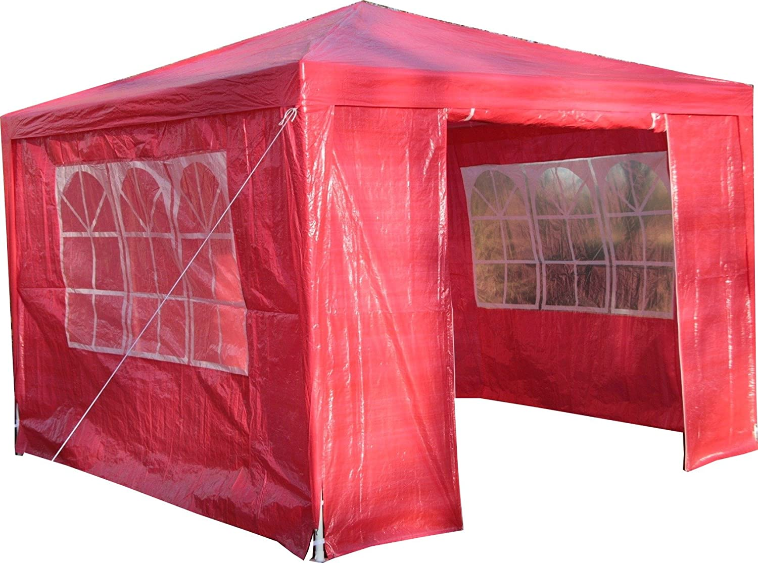 Airwave 3 x 3 m Party Tent Gazebo Marquee with Unique WindBar and Side Panels 120g Waterproof Canopy, Beige, 120g ESC Ltd 5060176862166