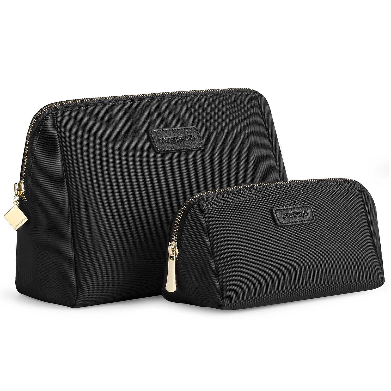 CHICECO Handy Cosmetic Pouch Clutch Makeup Bag Black Small Large
