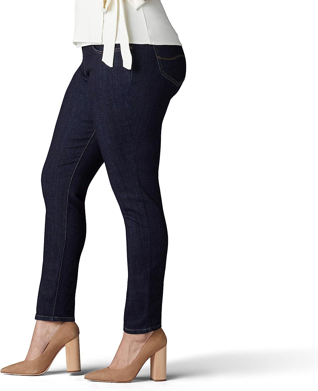Lee Womens Plus Size Sculpting Slim Fit Skinny Leg Pull on Jean 18W Medium Slumber