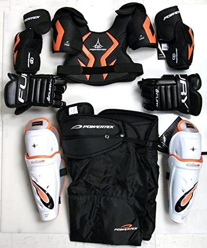 New Jr Junior Large Protective Ice Hockey Equipment Set Protective