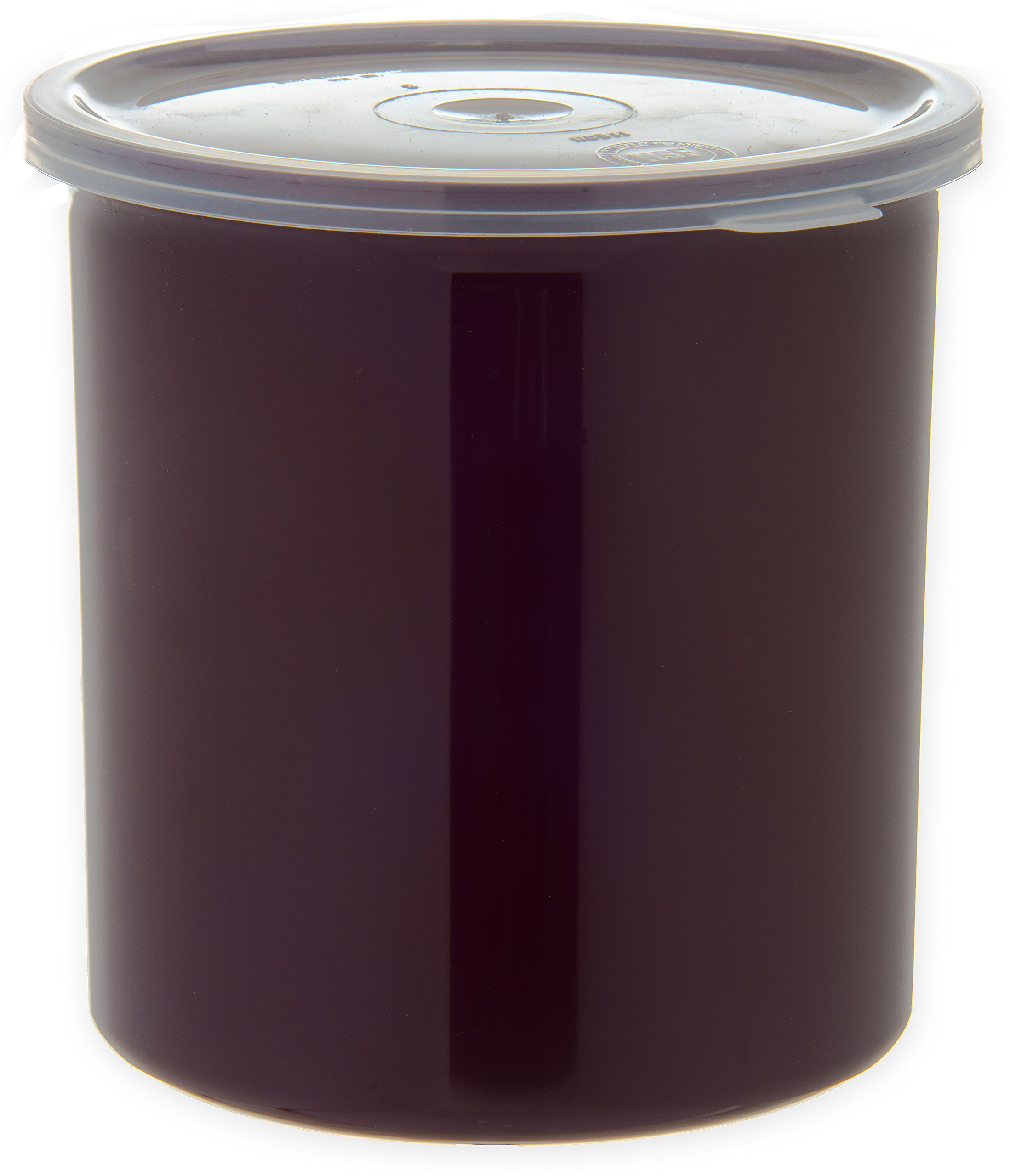 Carlisle 030101 Solid Color Commercial Round Storage with Lid, 1.2 Quart Capacity, Brown (Pack of 12) by Carlisle