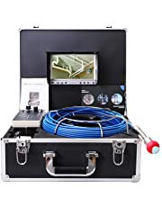 TIANG Pipe Camera with DVR/Sewer Inspection Camera with Waterproof IP68 40M/131FT Cable 7 Inch LCD Monitor 1000TVL Sony CCD (Free 8GB SD Card as Bonus!)