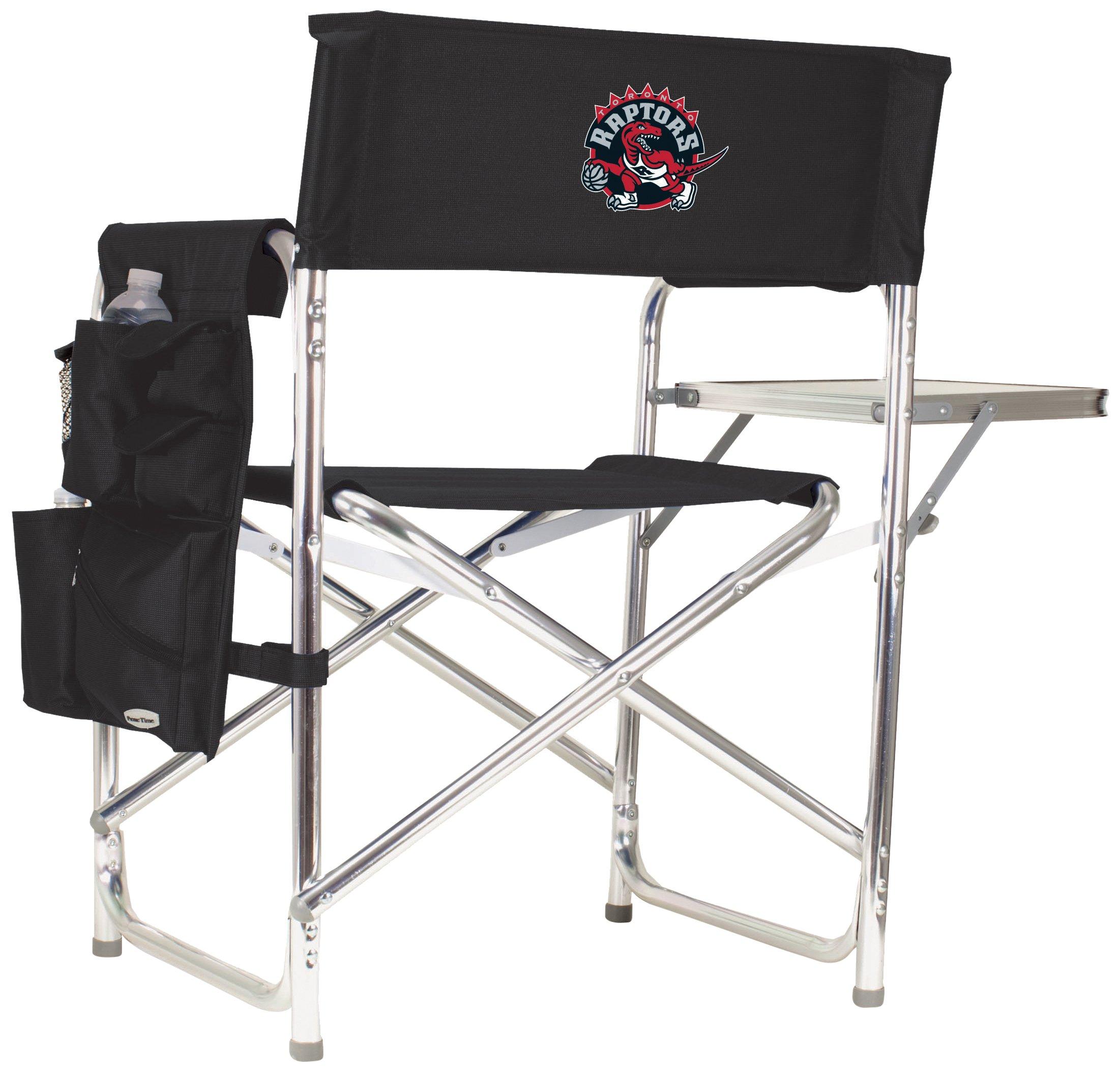 PICNIC TIME NBA Toronto Raptors Portable Folding Sports Chair, Black