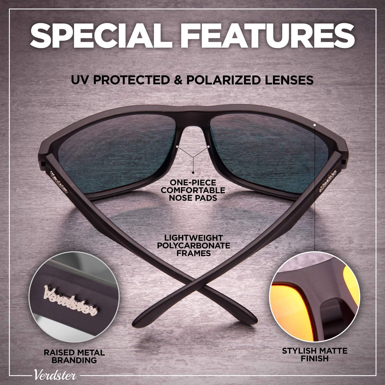 Gafas de Sol Grandes a la Moda Verdster Islander Gafas de Sol Polarizadas de Espejo Extra Grandes para Hombre Accesorios Incluidos
