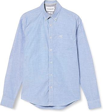 Calvin Klein Chambray Slim Stretch Camisa, Blue, L para Hombre: Amazon.es: Ropa y accesorios