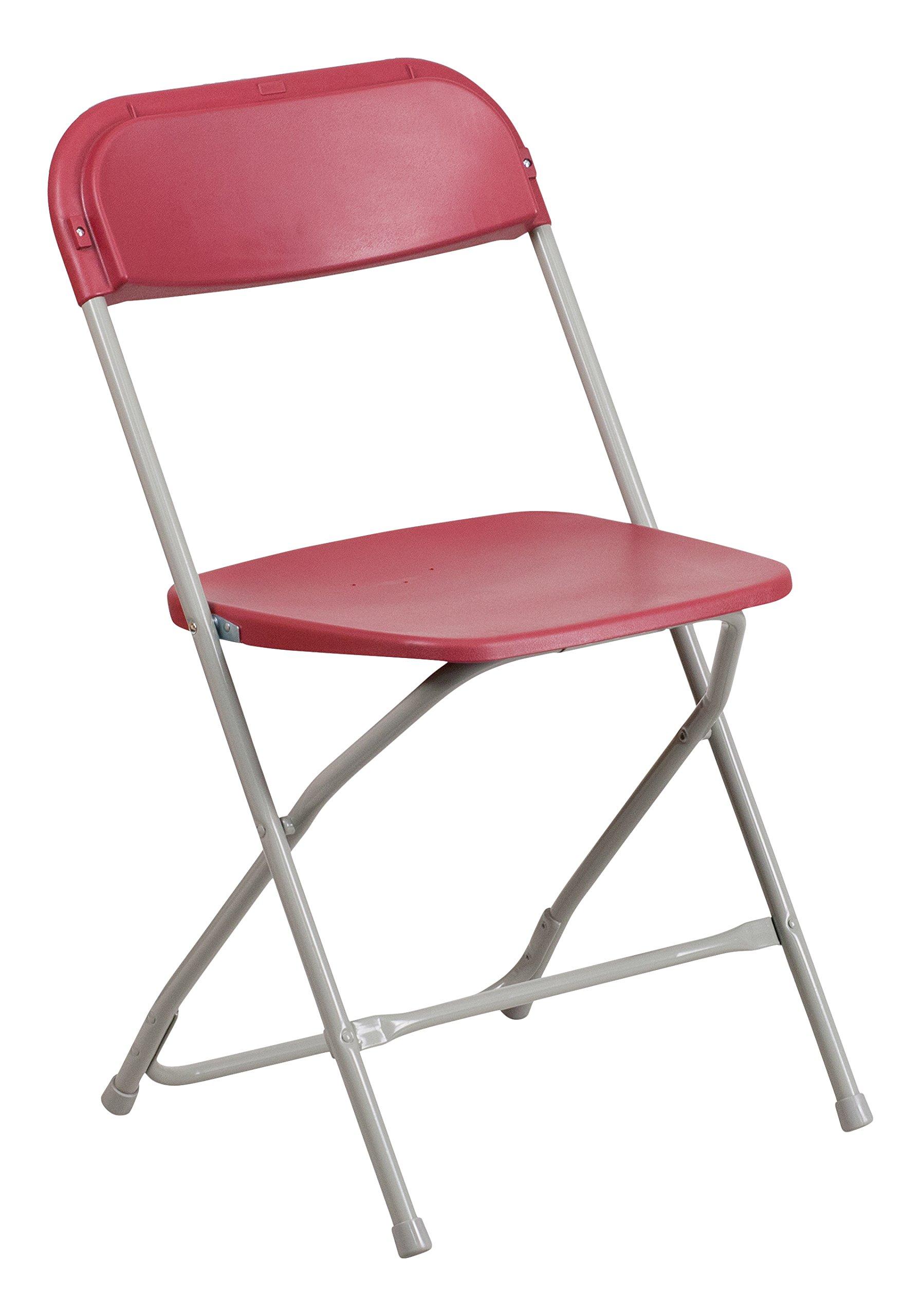 Flash Furniture 10 Pk. HERCULES Series 800 lb. Capacity Premium Red Plastic Folding Chair