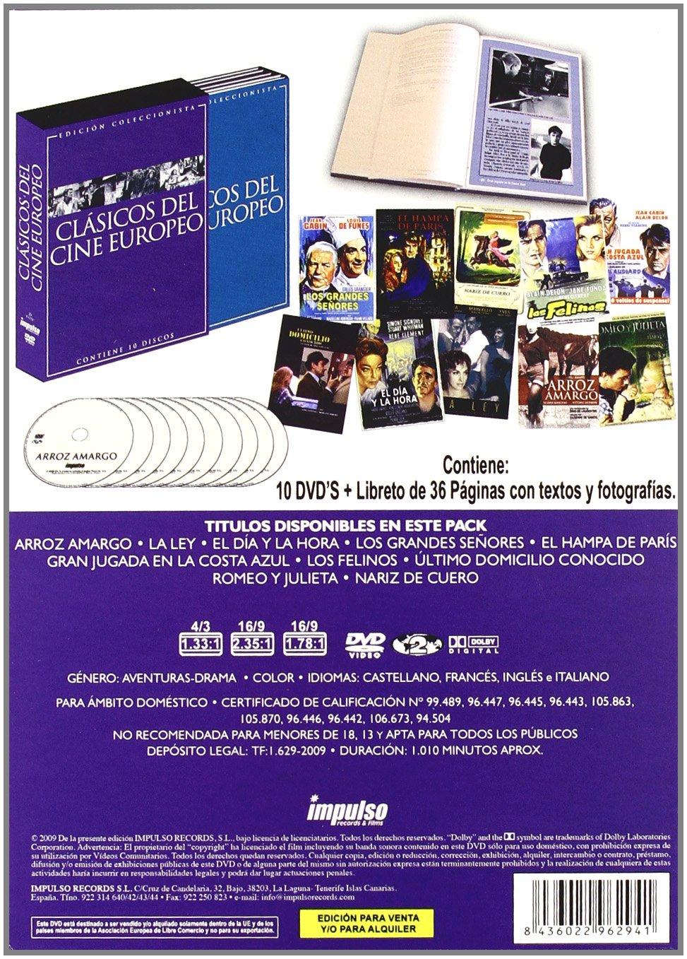 Pack Clásicos Del Cine Europeo (10 Películas) [DVD]: Amazon.es ...