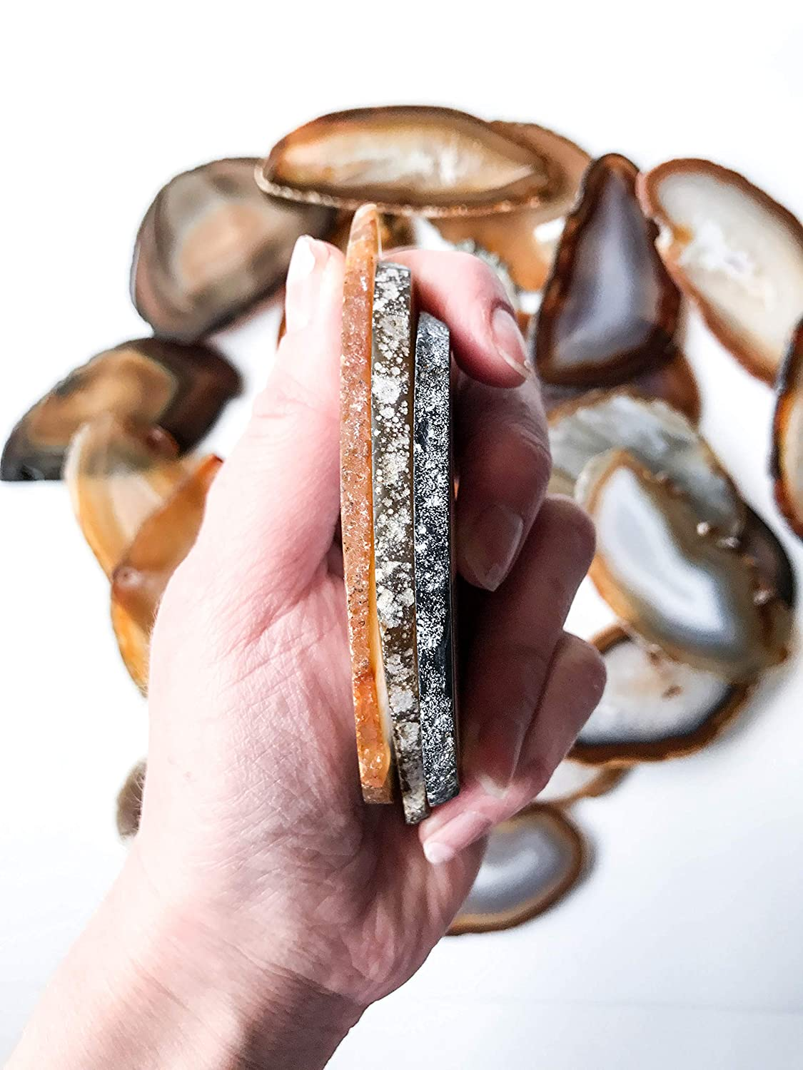 Calligraphy Natural Agate Slices
