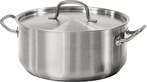 Tramontina 80117/576DS Pro-Line Stainless Steel Covered Dutch Oven