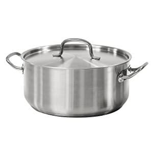 Tramontina 80117/576DS Pro-Line Stainless Steel Covered Dutch Oven, 9 quart, NSF-Certified
