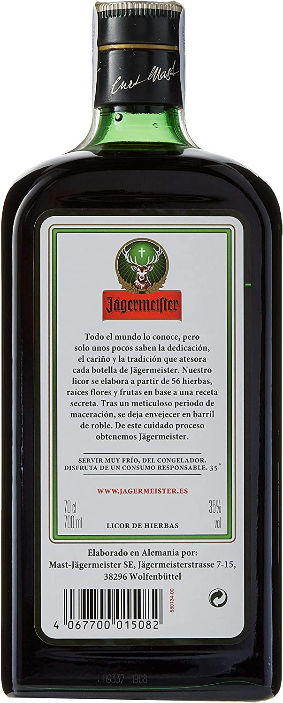 Jägermeister Licor 35% Vol, 70cl: Amazon.es: Alimentación y ...