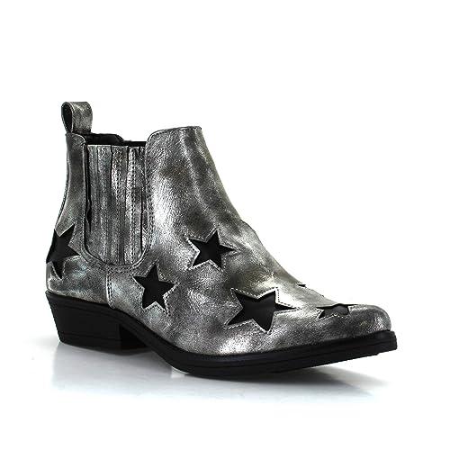 Seven7Rockstar Boot - Botín Seven7 Rockstar Mujer, Gris (Pewter), 11 M US: Amazon.es: Zapatos y complementos