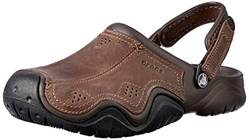 8b1a9ea524e8 Image Unavailable. Image not available for. Colour  crocs Swiftwater  Leather Men Clog ...