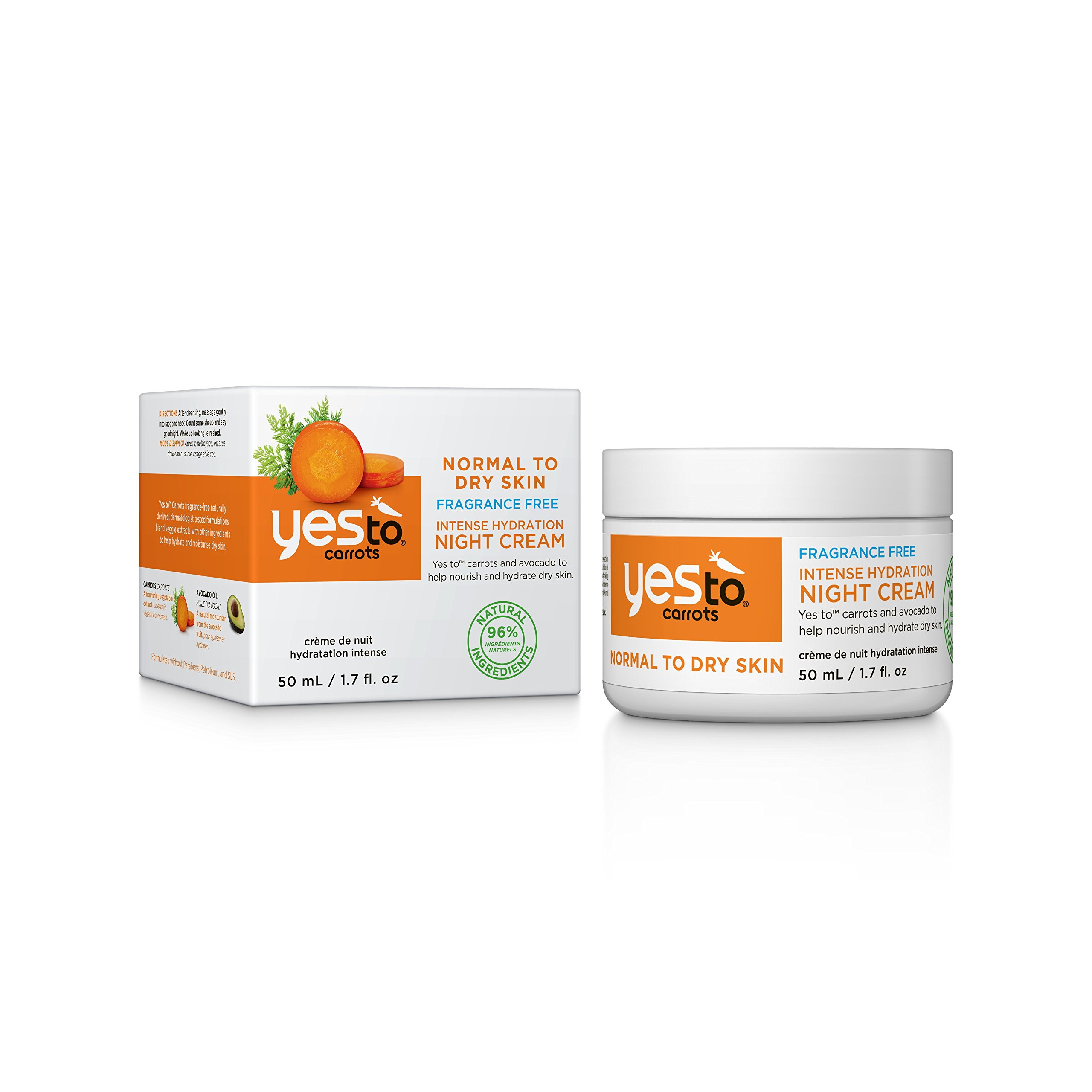 Yes To Carrots SPF 15 Fragrance-Free Daily Moisturizer, 1.7 Fluid Ounce 1000 Roses Cleansing Foam with Rose Stem Cells - 5.5 fl. oz. by Andalou Naturals (pack of 1)