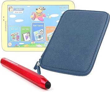 DURAGADGET Estuche Rígido Azul Marino con Cremallera para Tablet Samsung Galaxy 3 Kids + Lápiz Stylus Táctil Color Rojo: Amazon.es: Electrónica