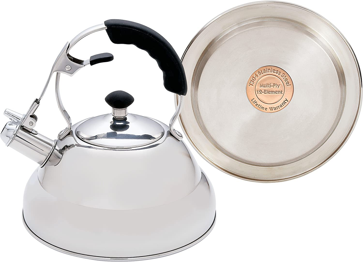 Chefs Secret 2.75qt Surgical Stainless Steel Tea Kettle With Copper Capsule Bottom