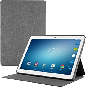 Tablet 10.1 inch + Protective Cover, Android Go 8.1 Tablet PC,Google Certified, 1GB RAM, 16GB Storage, WiFi, Bluetooth,GPS, 1280X800 IPS Screen, 3G Phablet with Dual Sim Card Slots,Dual Camera