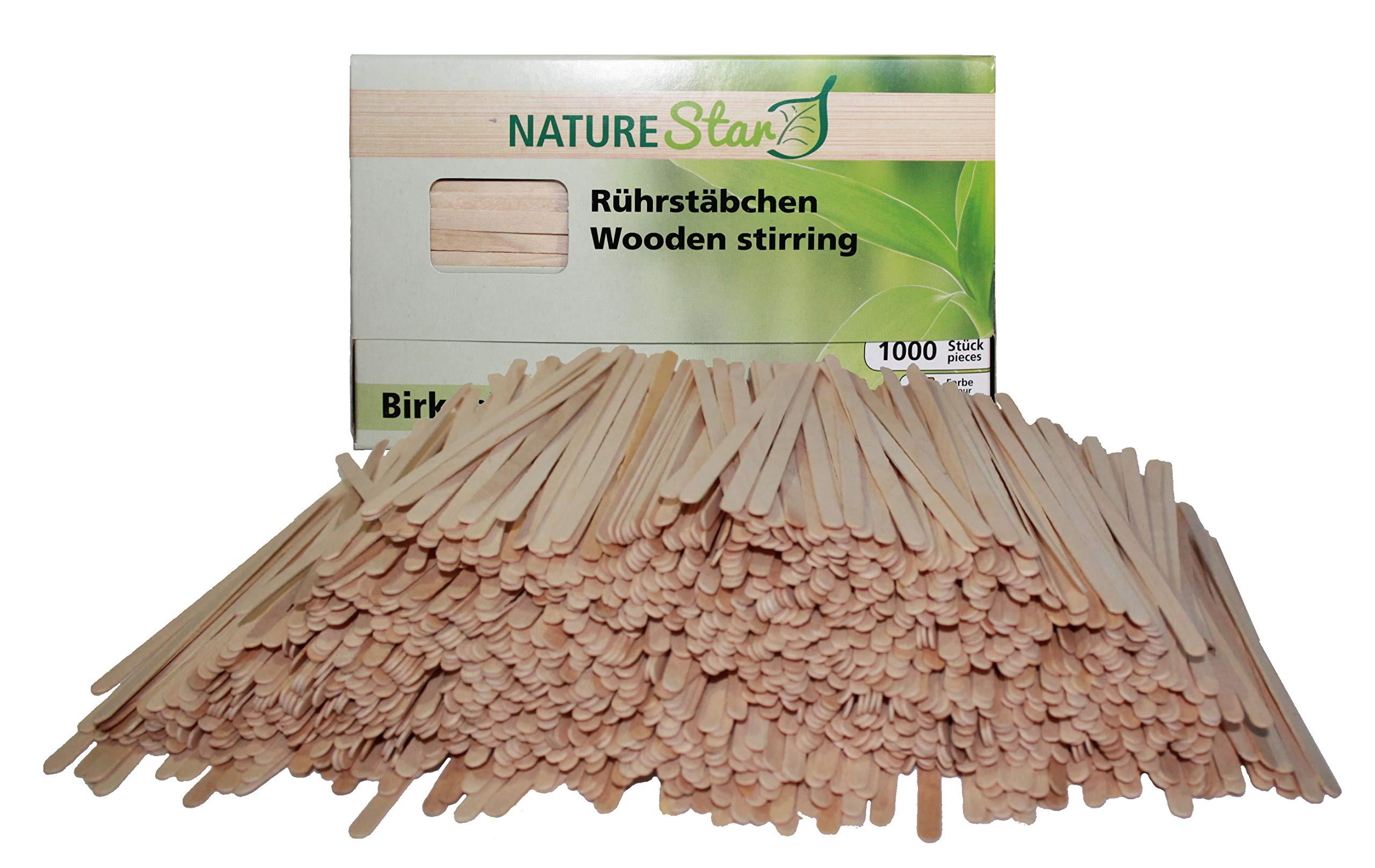 1000 Coffee Stir Sticks Wood Disposable Swizzle Stirrer Wooden Best For Hot/Cold Beverage
