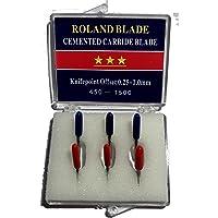 6-Pack Roland Type Replacement Carbide Blade Set 45 + 60 deg