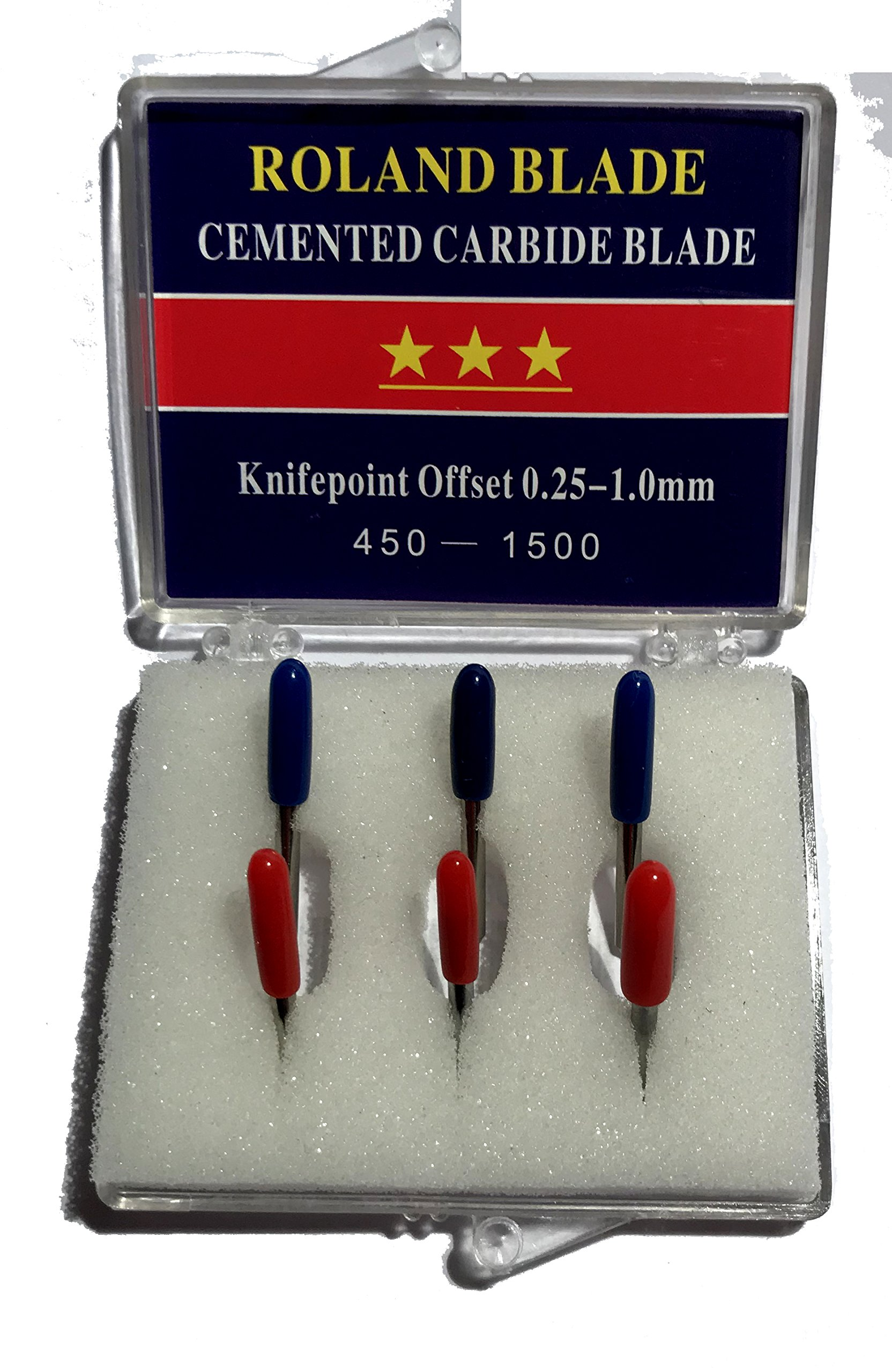 6-Pack Roland Type Replacement Carbide Blade Set 45 + 60 deg by Roland