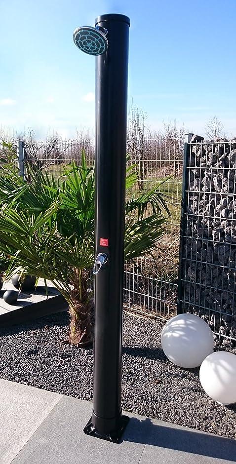 welasol solardusche 34 liter gartendusche 220 m mit wellness duschkopf - Dusche Garten Ohne Wasseranschluss