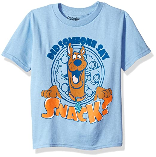 7ce31e95aa Amazon.com  Scooby Doo Boys  Toddler Someone Say Snack Short Sleeve Tshirt   Clothing