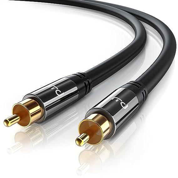 Primewire - 5m HQ Audio RCA Subwoofer Cable | Conector metálico de precisión | Serie: Amazon.es: Electrónica