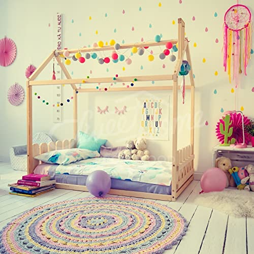 Amazon.com Toddler bed children bed house bed kids teepee wood house baby bed Montessori toys tent bed children bedroom bed house nursery bed ... & Amazon.com: Toddler bed children bed house bed kids teepee wood ...