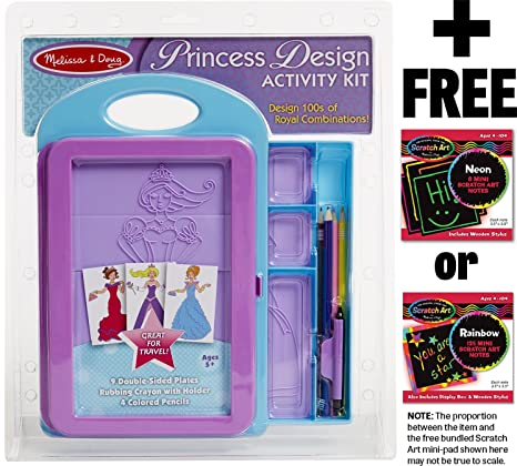 Fashion Design And Princess Design Activity Kit 2 Pack Bundle Kit By Melissa And Doug Drawing Sketch Pads