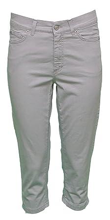 6a3628fed168 Angels Jeans Damen Capri-Hose - silbergrau  Amazon.de  Bekleidung