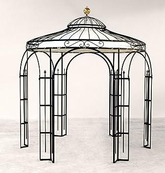Superieur ELEO Milano Round Garden Metal Gazebo With Awning 2.9 Metres (Finish:  Charcoal Duplexbeschichtet)