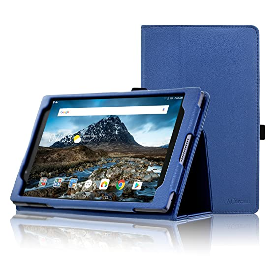 half off c7b6b 2edb7 Lenovo Tab 4 8 Case, ACdream Premium PU Folio Leather Tablet Case for  Lenovo Tab4 8 tablet(2017 version), Dark Blue