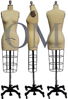 Amazon.com: Full Body Professional Female Dress Form Size 2 with ...